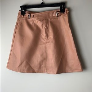 LF Mika and Gala Blush Faux Leather Skirt Size 8